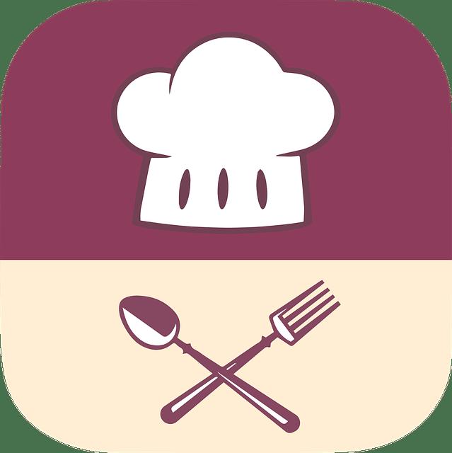 food, logo, app