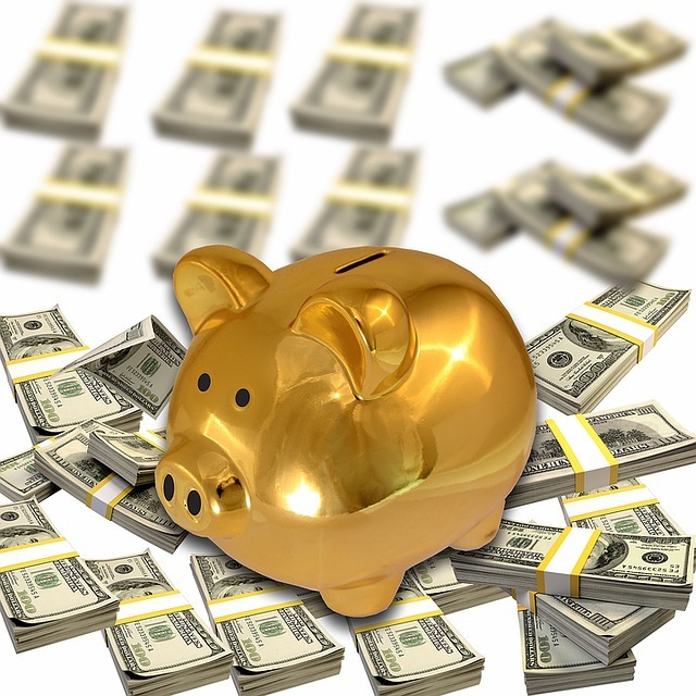 dollar, piggy bank, financial crisis