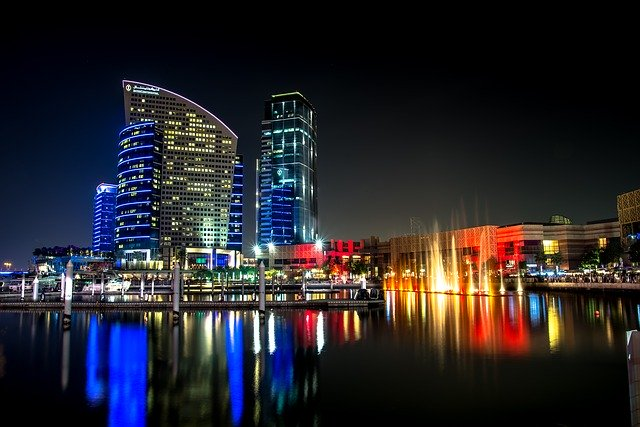 buildings, city, dubai