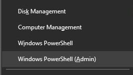powershell (admin)
