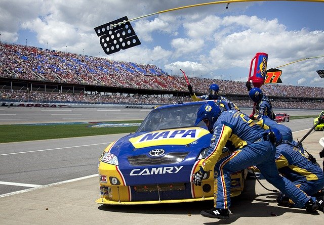 pit crew, auto racing, car