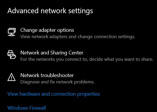 Change-Adapter-Option