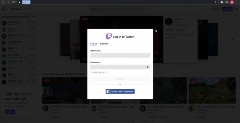 Twitch-login