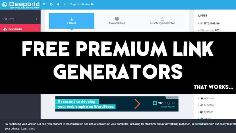 free-premium-link-generator