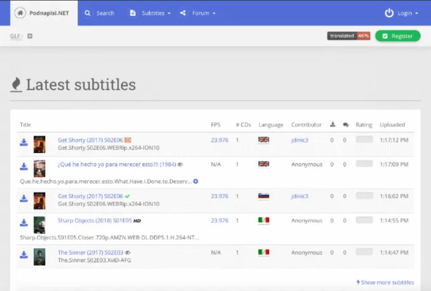 Podnapisi-subtitle-download-sites